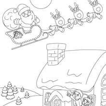 Coloriage traineau aux cadeaux - Coloriage - Coloriage FETES - Coloriage NOEL - Coloriage CADEAUX DE NOEL - Coloriages CADEAUX DE NOEL
