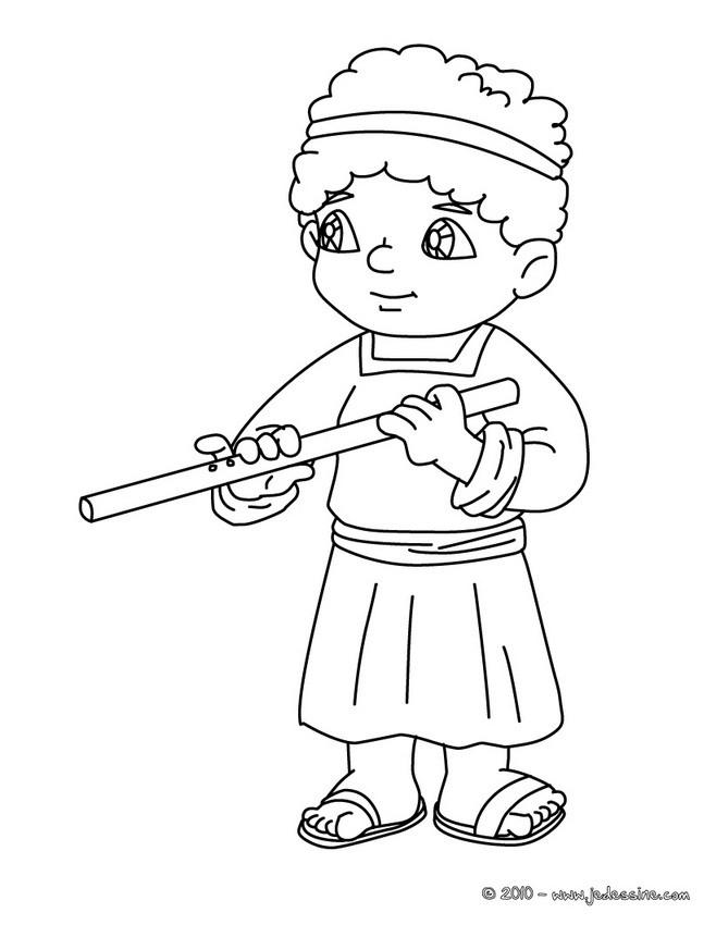 Coloriages joueur de fl te colorier - Dessin de flute ...