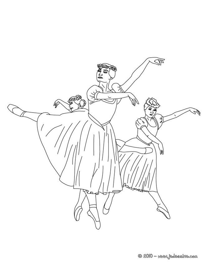 Coloriages danseuses tutu long colorier - Coloriage de danseuse ...