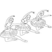 Coloriage : Danseuses en tutu à colorier