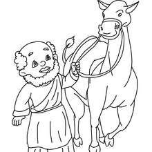 Coloriage : Dromadaire et Roi mage à colorier