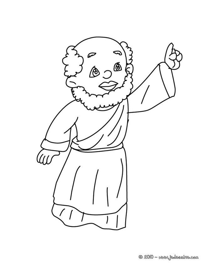 Coloriage : Roi mage doigt levé à colorier