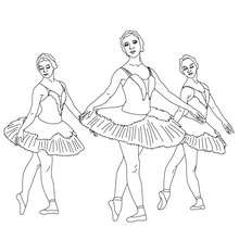 Coloriage danseuses tutu plateau