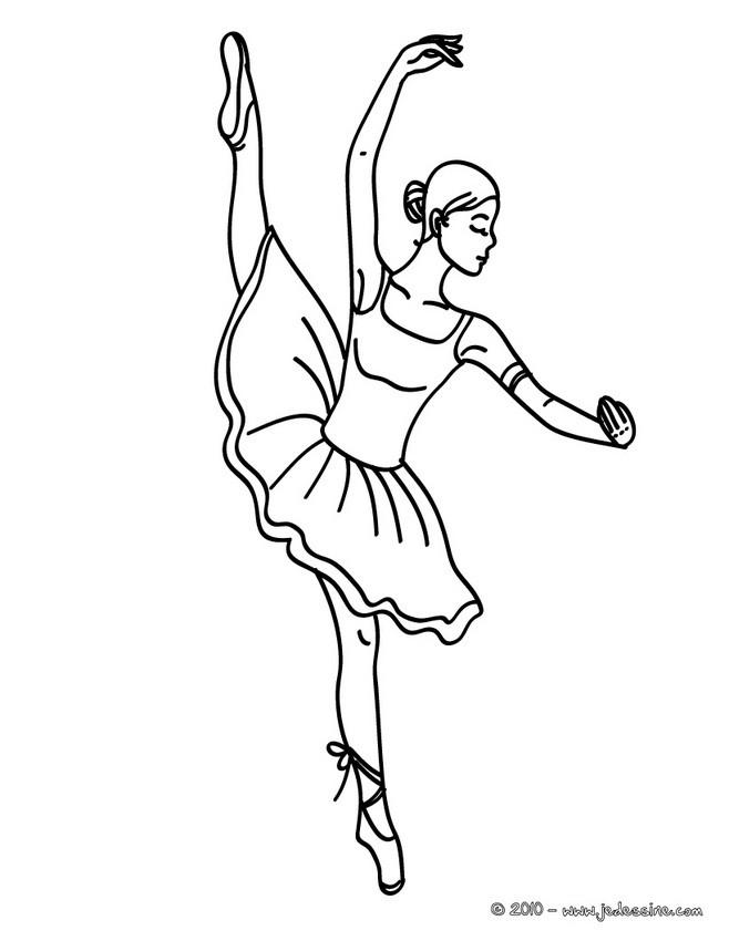 Coloriages danseuse lever de jambe colorier fr - Danseuse dessin ...