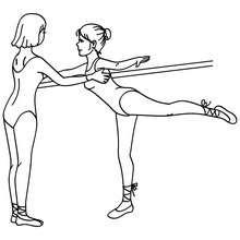 Coloriage arabesque danseuses