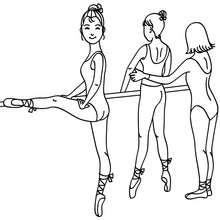 Coloriage : Répétition des danseuses à colorier