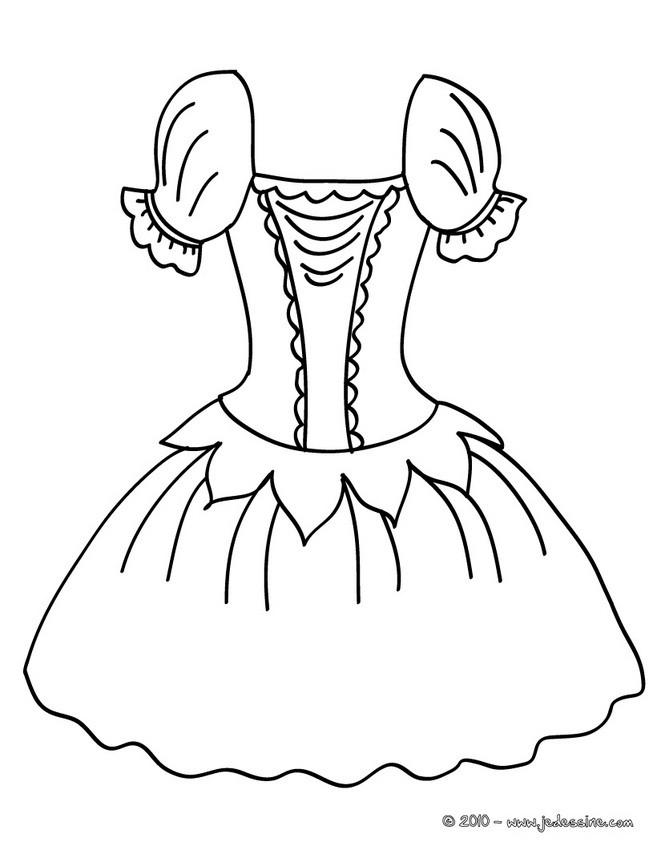 Coloriages costume de danse colorier - Dessin costume ...