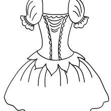 Coloriage : Costume de danse à colorier