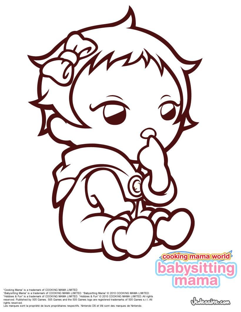 coloriage bb de babysitting mama - Coloriage De Bb