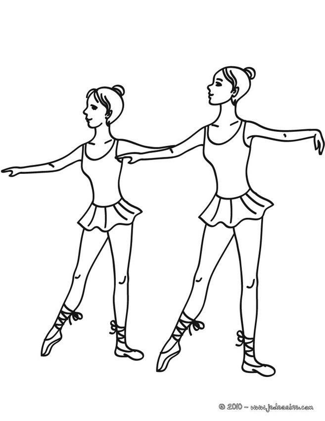 Coloriage Danseuse De Ballet.Coloriages Coloriage Danseuse A La Barre Fr Hellokids Com