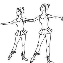 Coloriage danseuses de ballet - Coloriage - Coloriage SPORT - Coloriage DANSE - Coloriage BALLET DE DANSE
