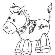 Coloriage poney Noël