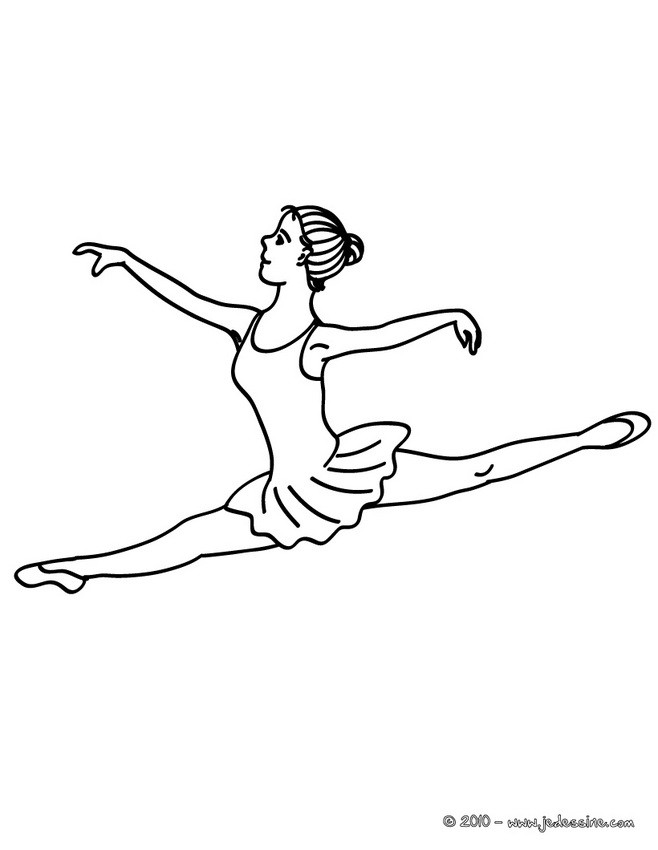 coloriage grand jet danseuse colorier