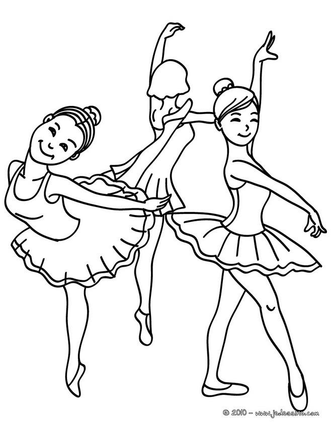 Coloriage Danseuse Ballet.Coloriages 3 Petites Danseuses De Ballet A Colorier Fr Hellokids Com