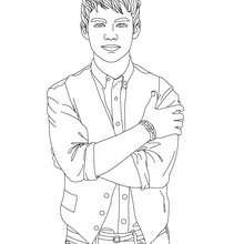 Coloriage : Joe Jonas à Colorier