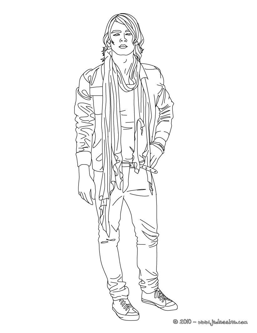 Coloriage Joe en jean