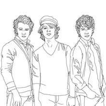 Coloriage 3 Jonas Brothers