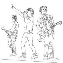 Coloriage 3 Jonas Brothers en concert