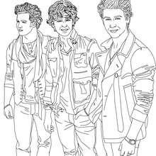 Coloriage Jonas Brothers à imprimer