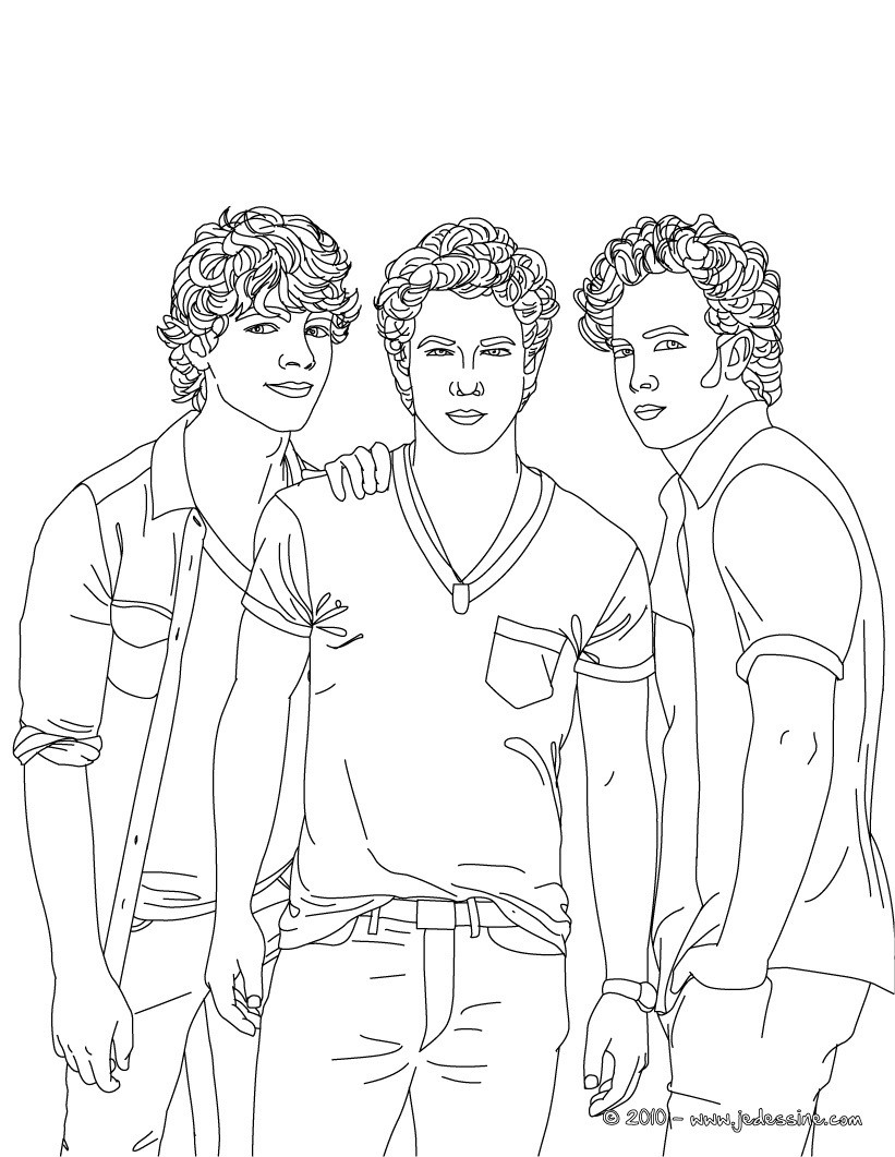 jonas brother coloring pages - photo#23