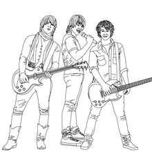 Coloriage : Les Jonas Brothers en concert