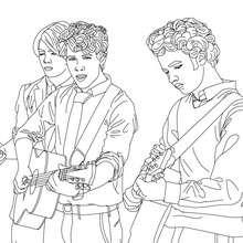 Les Jonas Brothers en concert à colorier
