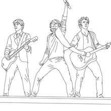 Les Jonas Brothers en concert coloriage