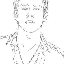 Coloriage portrait Nick Jonas