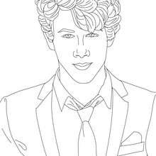 Coloriage : Portrait Nick Jonas à colorier