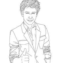Coloriage Nick costume