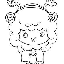 Petit mouton de Noël à colorier - Coloriage - Coloriage FETES - Coloriage NOEL - Coloriage ANIMAUX DE NOËL