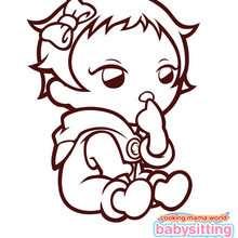 Bébé de BABYSITTING MAMA à colorier