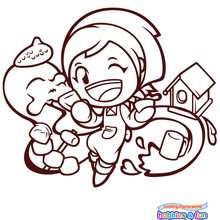 COOKING MAMA Ateliers Cratifs  imprimer - Coloriage - Coloriage A IMPRIMER - Coloriage COOKING MAMA
