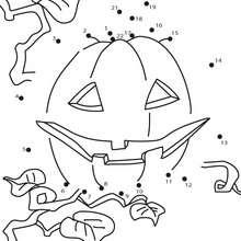 Jeu de points à relier : Citrouille d'Halloween