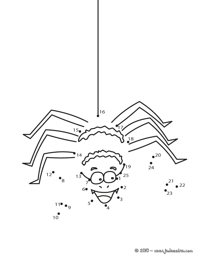 Coloriages araign e rigolote d 39 halloween - Faire une araignee pour halloween ...