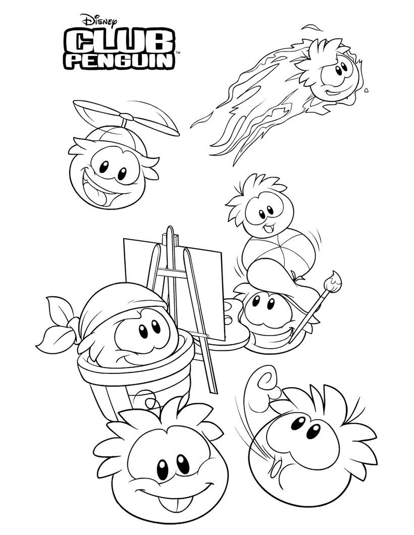 Coloriages club penguin imprimer - Jeux de club penguin gratuit ...