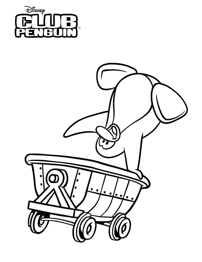 Coloriages penguin dans la mine - Jeux de club penguin gratuit ...