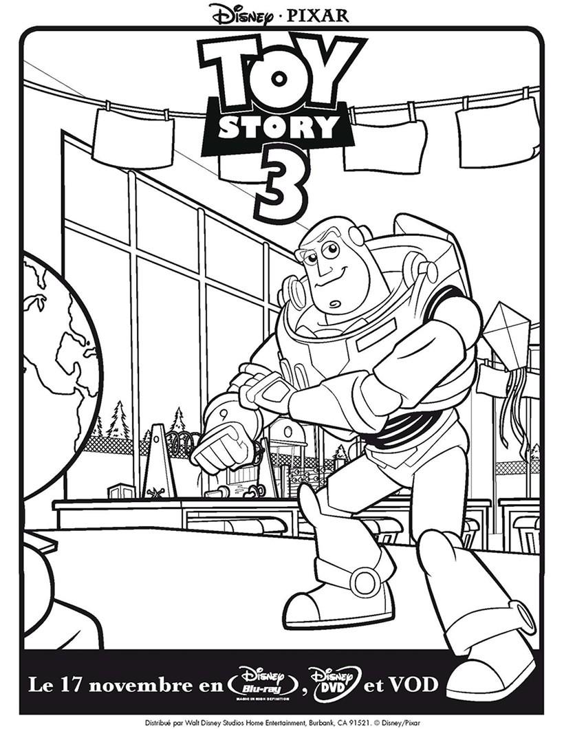 Coloriages Toy Story 3 Buzz L Eclair Fr Hellokids Com
