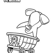 Coloriage : Penguin dans la mine