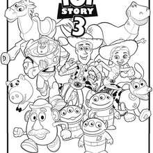 Coloriages Toy Story Woody Et Buzz L Eclair Fr Hellokids Com