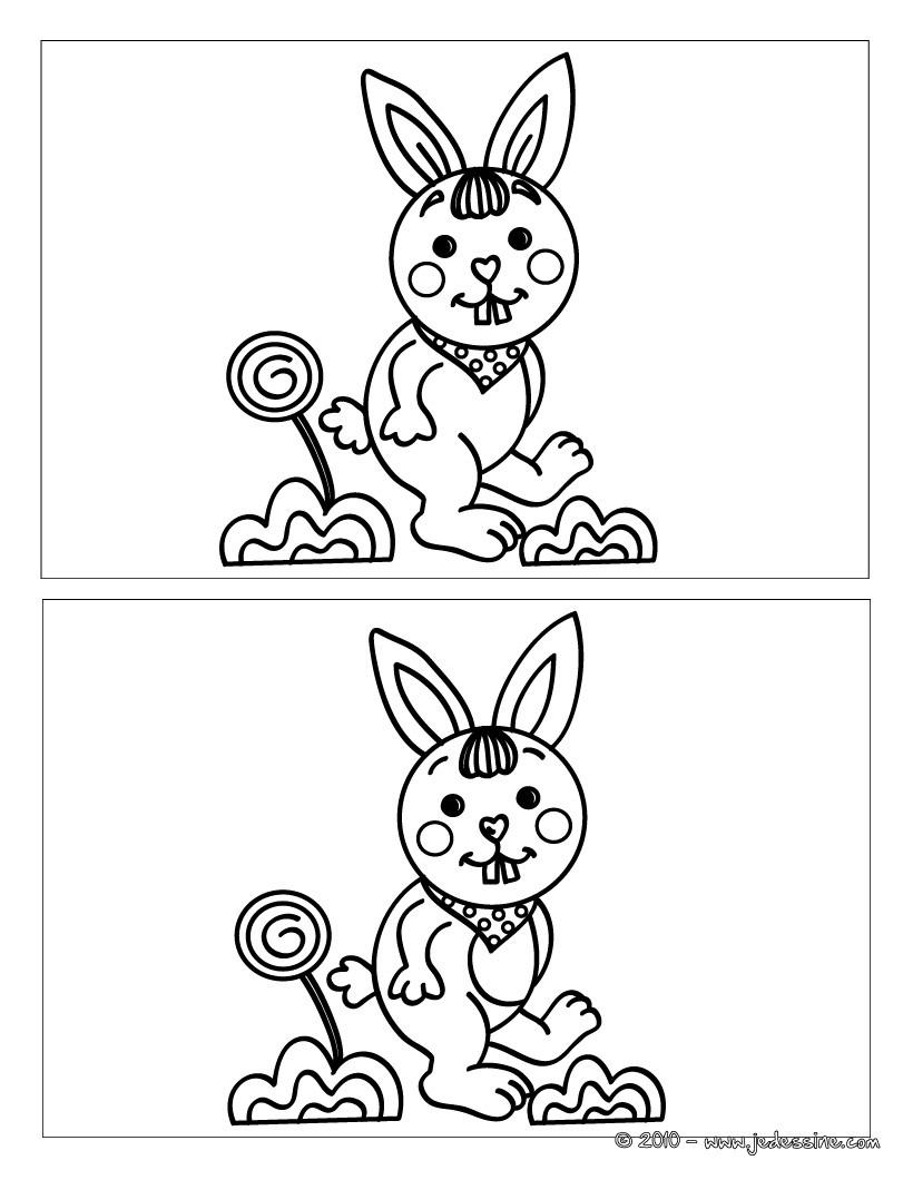 Jeux de le lapin et sa sucette - fr.hellokids.com