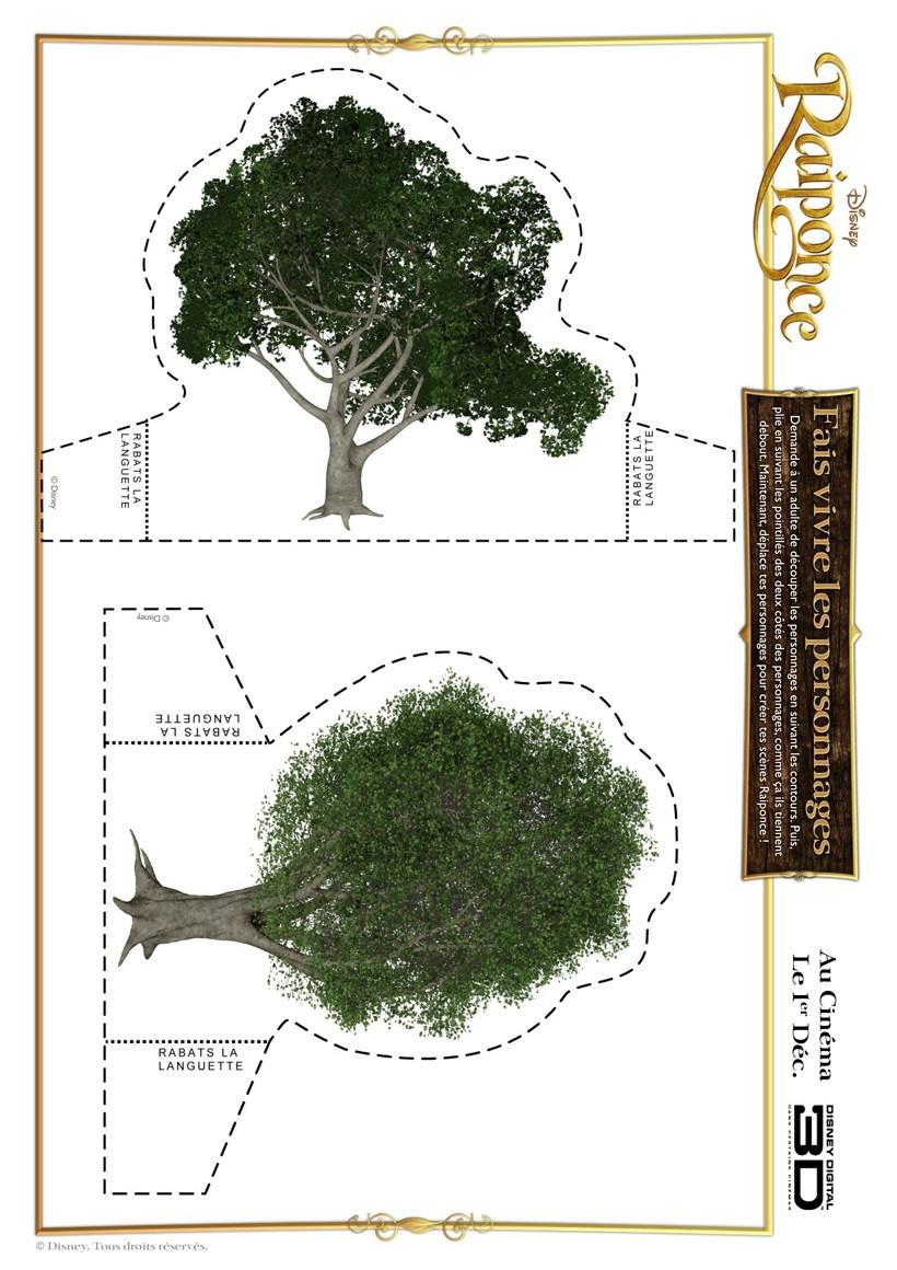Top Activités manuelles arbres de la forêt de raiponce à découper - fr  CS37