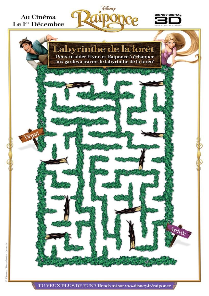 Labyrinthe de Raiponce et Flynn