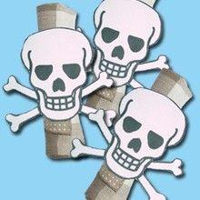 Fiche bricolage : Les ronds de serviette Anniversaire Pirate