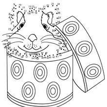 Hamster dans sa boite - Jeux - Jeux de Points à relier - Points à relier Animaux difficiles