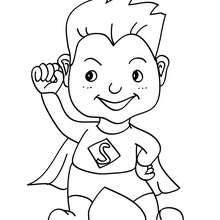 Coloriage costume carnaval superman