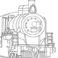 Coloriage : Avant de locomotive à colorier