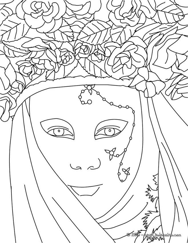 Coloriages visage carnaval venise colorier fr - Coloriage carnaval de venise ...
