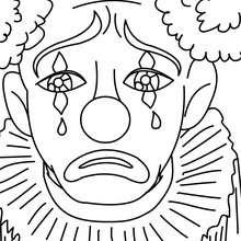 Maquillage triste du carnaval à colorier