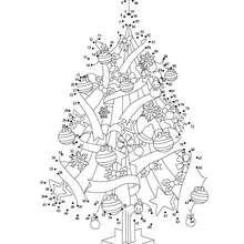 Jeu de points à relier : Les sapins de Noël